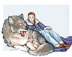 The starks and their direwolves because i love them too much and got is back! 🐾❤️ // for prints♥ Game Of Thrones Artwork, Game Of Thrones Tv, Game Of Thrones Instagram, Game Of Trones, Kings Game, Dire Wolf, Human Art, Fire And Ice, Arya Stark