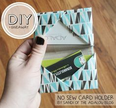 How to make your own fabric business card holder or it would make a how to make your own fabric business card holder or it would make a great lil wallet too diy pinterest business card holders business cards and reheart Image collections
