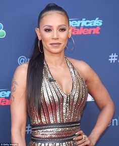 Safe: Reports have emerged that Mel B's security has been increased on set of America's Got Talent, in order to protect her during tense divorce proceedings with Stephen Belafonte Mel Brown, Latest Trending News, Travel Workout, America's Got Talent, Spice Girls, Female Singers, New Love, On Set, Beyonce