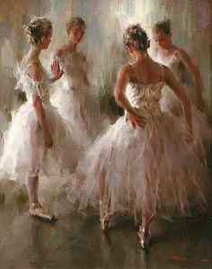 Ballerinas in light pink dresses