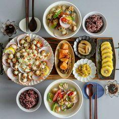 Lunch menu K Food, Food 101, Food Menu, Love Food, Food Porn, Asian Recipes, Healthy Recipes, Lunch Menu, Aesthetic Food
