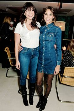 Daisy Lowe and Alexa Chung @ the global launch of the Alexa Chung for AG collection at Neo Bankside on January 15, 2015 in London, England.