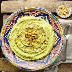 Humus med ramsløg og Dukkah - Plantebaseret / Vegansk opskrift - Mad med glød