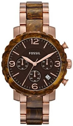 Fossil Natalie Stainless Steel Watch Two-Tone Fossil. $111.20. Brand:Fossil. Band color: rose-gold tone. Dial color: brown dial with rose-gold tone numerals. Model: JR1385. Condition:brand new with tags. Save 36% Off!