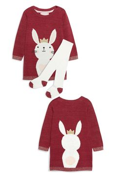 21ff3439ec1c Baby Girl Knitted Dress Set