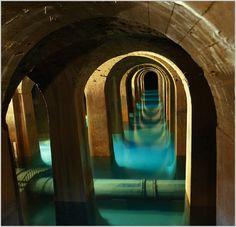 Le reservoir de montsouris, Paris