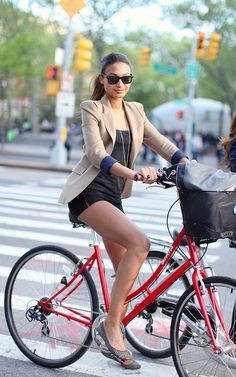 girl on bike,