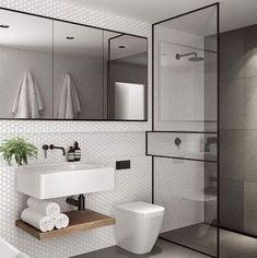 bai mici Bathroom Doors, Bathroom Flooring, Bathroom Storage, Master Bathroom, Basement Bathroom, Bathroom Organization, Boho Bathroom, Scandinavian Bathroom Design Ideas, Modern Bathroom Design