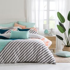 Gaudion Quilted Quilt Cover Set | Pillow Talk