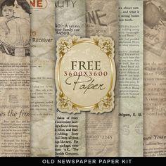 Freebies Old Newspaper ~ Far Far Hill