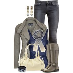 """""""Knee Highs and Jeans"""" by kswirsding on Polyvore"""