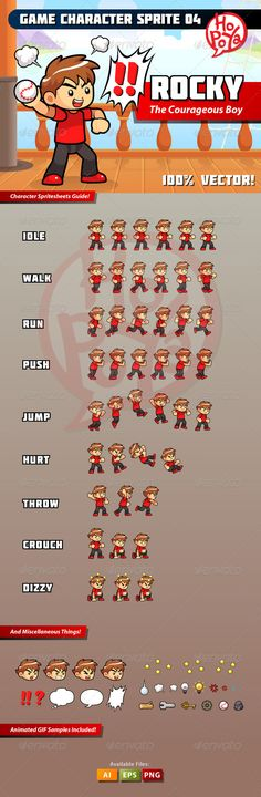 Game Character Sprite 04 - People Characters