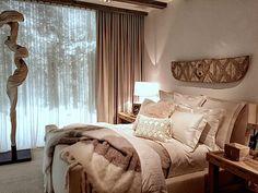 Ralph Lauren Home Modern Chalet bedroom - Ralph Lauren Modern Chalet vignette - a serene bedroom with layers of luxurious linens
