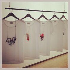 "Hmmm, interesting window display idea... ""Wearables - Elise Hatlo Jewellery www.elisehatlo.com"""