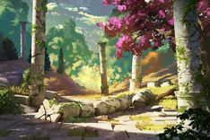 Today at (CEST), will be on twitch for a live painting on the environments of Forest of Liars ! Forest of Liars : remains of the past Fantasy Art Landscapes, Landscape Drawings, Fantasy Landscape, Landscape Art, Environment Concept Art, Environment Design, Anime Gifs, Landscape Concept, Fantasy Setting