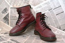 Vintage Oxblood Red Doc Dr Martens 8 Eye Made in England Boots