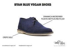 Ryan vegan shoes ecological Dinamica microfibre plastic bottle recycled crepe sole. Unisex