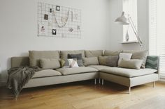 Our grey ikea s derhamn sofa house pinterest grey sectional grey and ikea sofa - Bank beige ikea ...