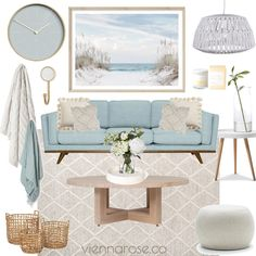 View this Interior Design Mood Board and more designs by Vienna Rose Styling on Style Sourcebook Hamptons Living Room, Coastal Living Rooms, Home And Living, Living Room Decor, Beige Living Rooms, Home Design, Home Interior Design, Beach Apartment Decor, Hamptons Style Decor