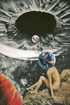Mazaj-7. Surreal Mixed Media Collage Art By Ayham Jabr. Instagram-Facebook.