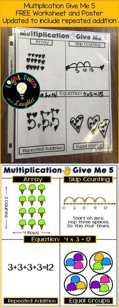 Have your students show you multiplication in 5 different ways!Have your students show you multiplication in 5 different ways! FREEBIE has been updated with repeated addition. Math Strategies, Math Resources, Math Activities, Second Grade Math, 4th Grade Math, Grade 2, Math Multiplication, Maths, Repeated Addition Multiplication