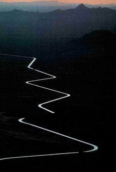 zigzag route