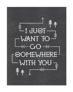 Somewhere With You Print por AlisaBobzien en Etsy.