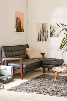 Campbell Vegan Leather Sectional Sofa - Urban Outfitters