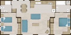 Victory Parkview Lodge 2017 40' X 20' (2 BEDROOMS) CL