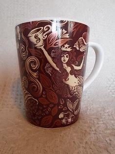 Starbucks Coffee Mug Mermaid Siren 2007 13 Fl Oz Cup Brown Collectible Mug #Starbucks