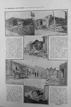 Revista Zig-Zag. Terremoto de Copiapó 4 diciembre de 1918. Chile, Vintage World Maps, Boiler, Old Photography, December, Pictures, Chili, Chilis