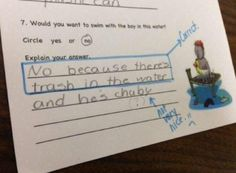 This kid, who doesn't like your garbage water. | 19 Kids Who Totally Have This Whole Test Thing Figured Out
