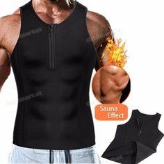 68ee0c4bad5 Men s Waist Trainer Body Shaper Sauna Vest Slimming Sweat Gym Trimmer Tank  Top  fashion