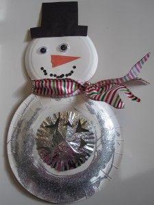 Craft: Snowflake Snowman