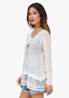Lace Trimmed  Spring Sweater  ++ the perfect spring outfit