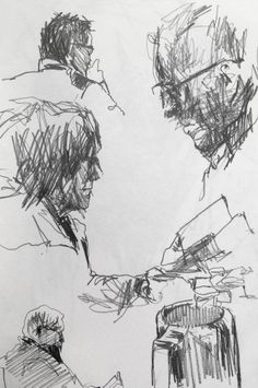 Life Drawing - Coffee Shop Sketches - Original artwork by davidhewittartist... #Art #LifeDrawing #Drawing #Sketchbooks #Pencil