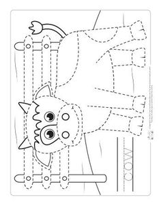 Farm Animals Tracing Coloring Pages - Itsy Bitsy Fun - Farm Animals Tracing Coloring Pages – Itsy Bitsy Fun - Farm Animals Preschool, Farm Animal Crafts, Animal Crafts For Kids, Farm Activities, Animal Activities, Kindergarten Activities, Animal Worksheets, Preschool Worksheets, Tracing Worksheets