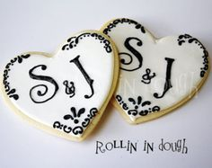 wedding cookies on Etsy, a global handmade and vintage marketplace.