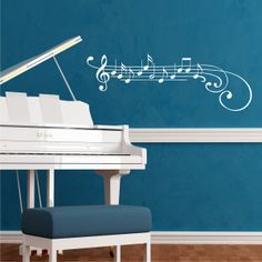 Treble Clef and Notes Wall Quotes™ Wall Art Decal | WallQuotes.com