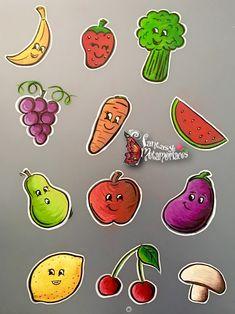 Fruit and veg face paint menu board