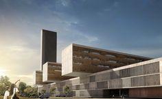 Luanda University Hospital, Camama, Cabiri, Angola, 2014 | Design - Eduardo Souto de Moura - Albert de Pineda Alvarez | © COSTALOPES #ClinicExteriorDesign
