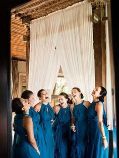 blue dresses for the bridesmaids