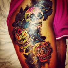 Tattoo thigh Family tattoos and Thigh tattoos on Pinterest