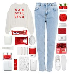"""""""Untitled #2341"""" by tacoxcat ❤ liked on Polyvore featuring Pull&Bear, ASOS, CB2, COVERGIRL, Make, Pantone, Dr. Sebagh, Koh Gen Do, Clarins and River Island"""