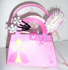 Princess Birthday Party Favor Purse with Hair by CjkidzTreasures, $6.00