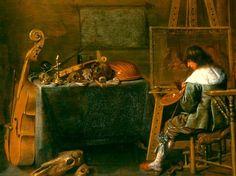 Jan Miense Molenaer  Artist in His Studio  17th century
