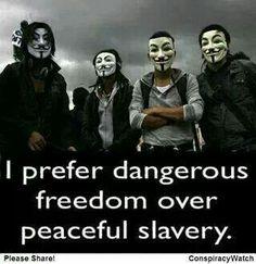 ~ Dangerous FREEDOM Over Peaceful SLAVERY ~