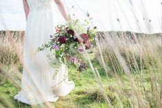 Lovers' Lane: A Rustic Wedding Styled Shoot in Yorkshire. Gorgeous autumnal wedding bouquet.   Image by Jenny Maden Photography.  Read more: http://bridesupnorth.com/2017/01/30/lovers-lane-a-rustic-wedding-styled-shoot-in-yorkshire/  #wedding