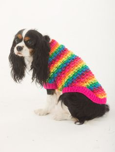 The Proud Supporter Dog Sweater -free pattern via @Lion Brand