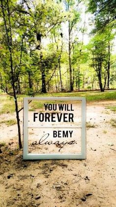 You will forever be my always. Diy antique window with a love quote decal. by dolores